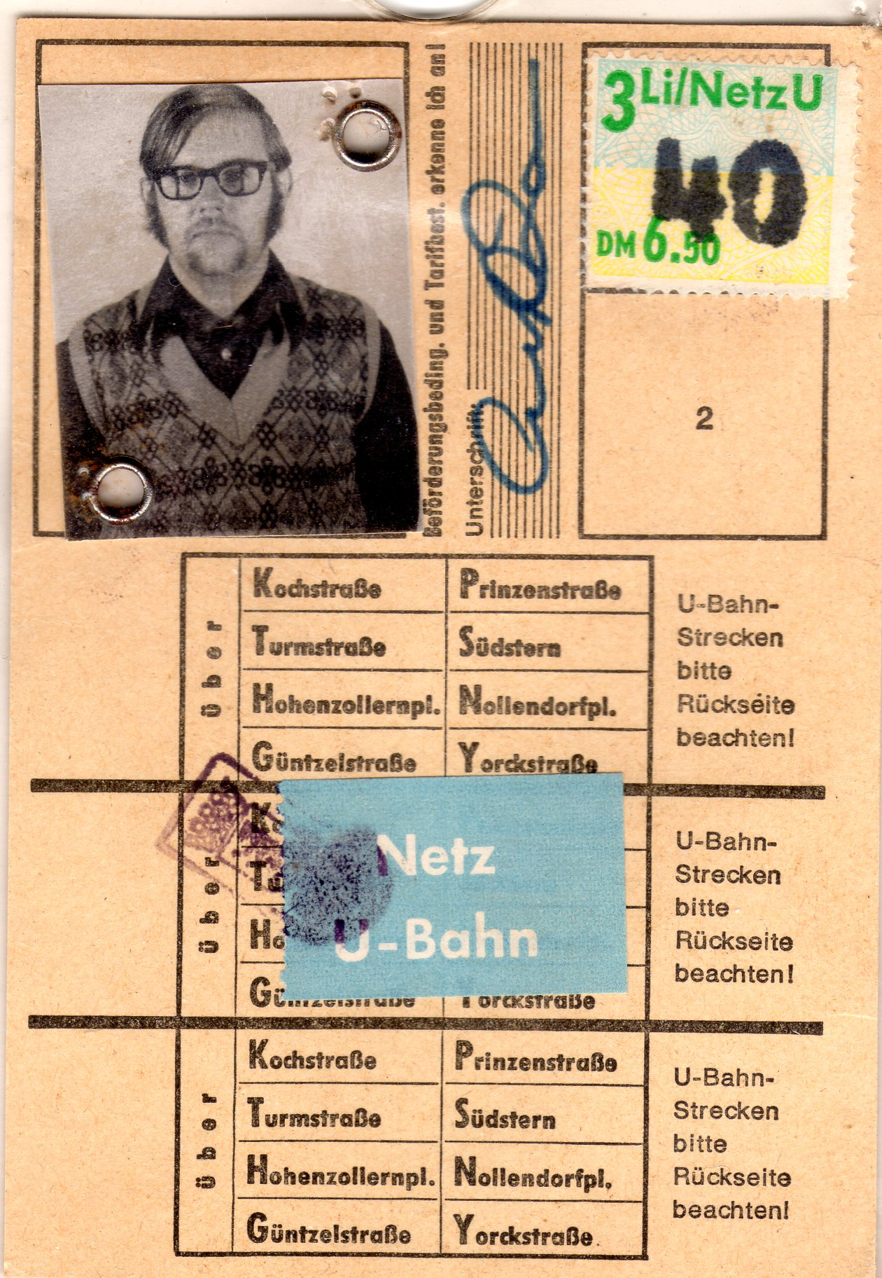 COL Rocky Doc Farr Berlin Subway Pass